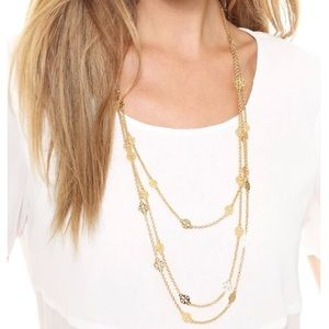 Tory Burch necklace layered